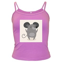 Tooth Bigstock Cute Cartoon Mouse Grey Animals Pest Dark Spaghetti Tank by Mariart