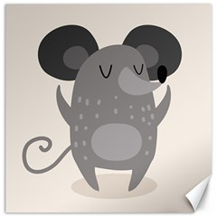 Tooth Bigstock Cute Cartoon Mouse Grey Animals Pest Canvas 16  X 16   by Mariart