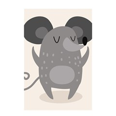 Tooth Bigstock Cute Cartoon Mouse Grey Animals Pest Shower Curtain 48  X 72  (small)  by Mariart