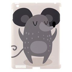Tooth Bigstock Cute Cartoon Mouse Grey Animals Pest Apple Ipad 3/4 Hardshell Case (compatible With Smart Cover) by Mariart