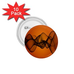 Transparent Waves Wave Orange 1 75  Buttons (10 Pack) by Mariart