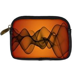 Transparent Waves Wave Orange Digital Camera Cases by Mariart