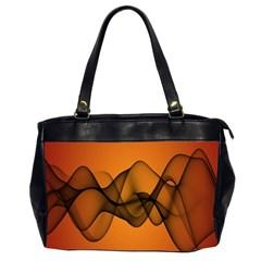 Transparent Waves Wave Orange Office Handbags (2 Sides)  by Mariart
