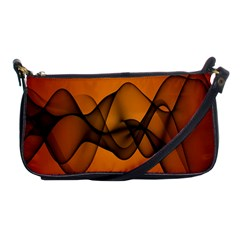 Transparent Waves Wave Orange Shoulder Clutch Bags by Mariart