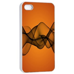 Transparent Waves Wave Orange Apple Iphone 4/4s Seamless Case (white) by Mariart