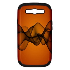 Transparent Waves Wave Orange Samsung Galaxy S Iii Hardshell Case (pc+silicone) by Mariart