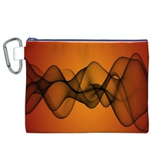 Transparent Waves Wave Orange Canvas Cosmetic Bag (xl) by Mariart