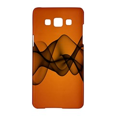Transparent Waves Wave Orange Samsung Galaxy A5 Hardshell Case  by Mariart