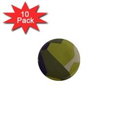 Unifom Camuflage Green Frey Purple Falg 1  Mini Magnet (10 Pack)  by Mariart