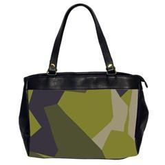 Unifom Camuflage Green Frey Purple Falg Office Handbags (2 Sides)  by Mariart