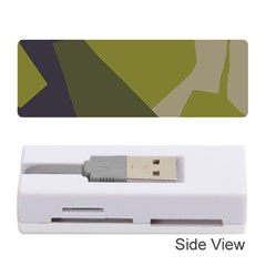 Unifom Camuflage Green Frey Purple Falg Memory Card Reader (stick)  by Mariart