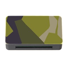 Unifom Camuflage Green Frey Purple Falg Memory Card Reader With Cf by Mariart