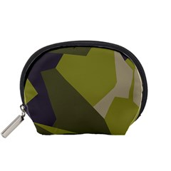 Unifom Camuflage Green Frey Purple Falg Accessory Pouches (small)  by Mariart
