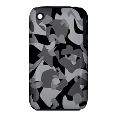 Urban Initial Camouflage Grey Black Iphone 3s/3gs by Mariart
