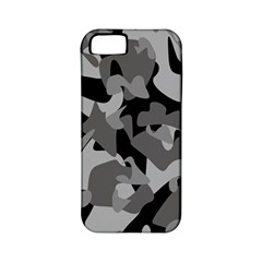 Urban Initial Camouflage Grey Black Apple Iphone 5 Classic Hardshell Case (pc+silicone) by Mariart