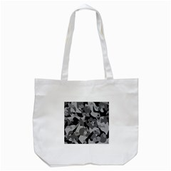Urban Initial Camouflage Grey Black Tote Bag (white) by Mariart