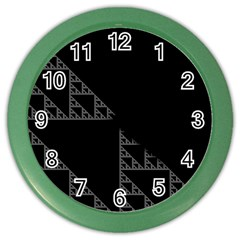 Triangle Black White Chevron Color Wall Clocks by Mariart