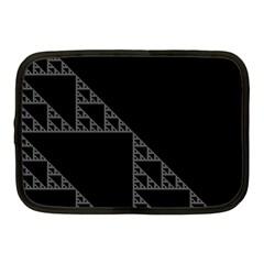 Triangle Black White Chevron Netbook Case (medium)  by Mariart