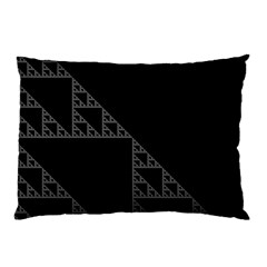 Triangle Black White Chevron Pillow Case by Mariart
