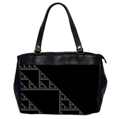 Triangle Black White Chevron Office Handbags (2 Sides)  by Mariart