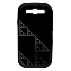 Triangle Black White Chevron Samsung Galaxy S Iii Hardshell Case (pc+silicone) by Mariart