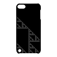 Triangle Black White Chevron Apple Ipod Touch 5 Hardshell Case With Stand by Mariart