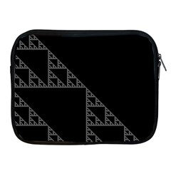 Triangle Black White Chevron Apple Ipad 2/3/4 Zipper Cases by Mariart