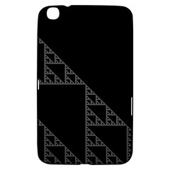 Triangle Black White Chevron Samsung Galaxy Tab 3 (8 ) T3100 Hardshell Case  by Mariart