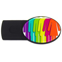 Trans Gender Purple Green Blue Yellow Red Orange Color Rainbow Sign Usb Flash Drive Oval (4 Gb) by Mariart