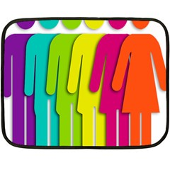 Trans Gender Purple Green Blue Yellow Red Orange Color Rainbow Sign Fleece Blanket (mini) by Mariart