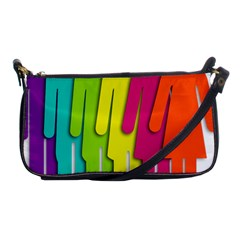 Trans Gender Purple Green Blue Yellow Red Orange Color Rainbow Sign Shoulder Clutch Bags by Mariart