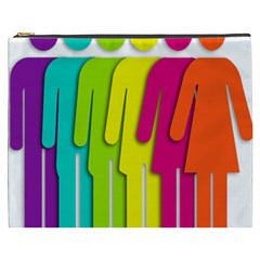 Trans Gender Purple Green Blue Yellow Red Orange Color Rainbow Sign Cosmetic Bag (xxxl)  by Mariart