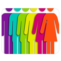 Trans Gender Purple Green Blue Yellow Red Orange Color Rainbow Sign Double Sided Flano Blanket (medium)  by Mariart