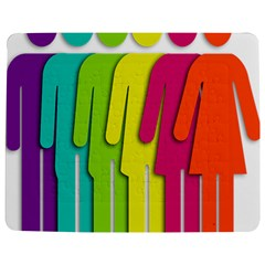 Trans Gender Purple Green Blue Yellow Red Orange Color Rainbow Sign Jigsaw Puzzle Photo Stand (rectangular) by Mariart