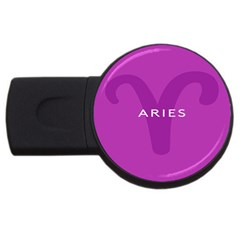 Zodiac Aries Usb Flash Drive Round (2 Gb) by Mariart