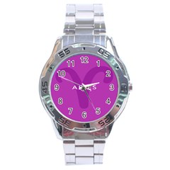 Zodiac Aries Stainless Steel Analogue Watch by Mariart