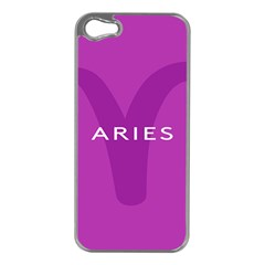 Zodiac Aries Apple Iphone 5 Case (silver) by Mariart