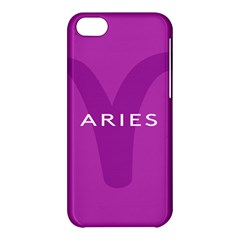 Zodiac Aries Apple Iphone 5c Hardshell Case by Mariart