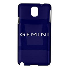Zodiac Gemini Samsung Galaxy Note 3 N9005 Hardshell Case by Mariart