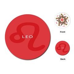 Zodiac Leo Playing Cards (round)