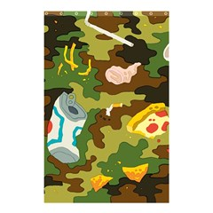 Urban Camo Green Brown Grey Pizza Strom Shower Curtain 48  X 72  (small)  by Mariart