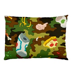Urban Camo Green Brown Grey Pizza Strom Pillow Case (two Sides) by Mariart