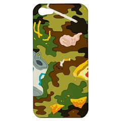 Urban Camo Green Brown Grey Pizza Strom Apple Iphone 5 Hardshell Case by Mariart