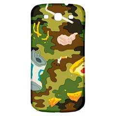 Urban Camo Green Brown Grey Pizza Strom Samsung Galaxy S3 S Iii Classic Hardshell Back Case by Mariart