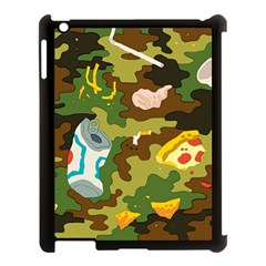 Urban Camo Green Brown Grey Pizza Strom Apple Ipad 3/4 Case (black) by Mariart