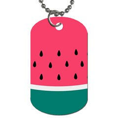 Watermelon Red Green White Black Fruit Dog Tag (one Side) by Mariart
