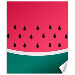 Watermelon Red Green White Black Fruit Canvas 20  X 24   by Mariart