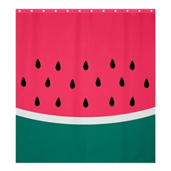 Watermelon Red Green White Black Fruit Shower Curtain 66  X 72  (large)  by Mariart