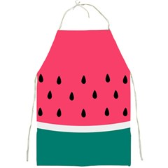 Watermelon Red Green White Black Fruit Full Print Aprons by Mariart