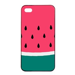 Watermelon Red Green White Black Fruit Apple Iphone 4/4s Seamless Case (black) by Mariart